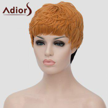 Trendy Short Black Golden Ombre Synthetic Shaggy Straight Adiors Hair Women's Bump Wig