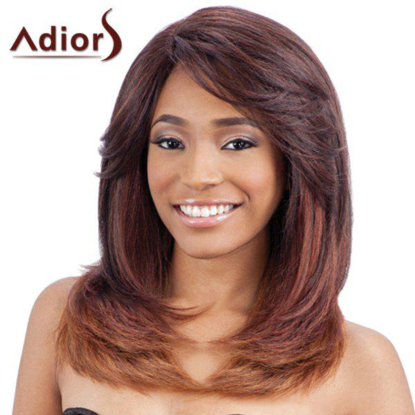 Elegant Straight Tail Adduction Synthetic Fashion Long Layered Capless Adiors Wig For Women - COLORMIX