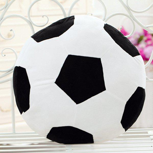 Stylish Football Pattern Round Shape Pillow For Home Decoration - BLACK