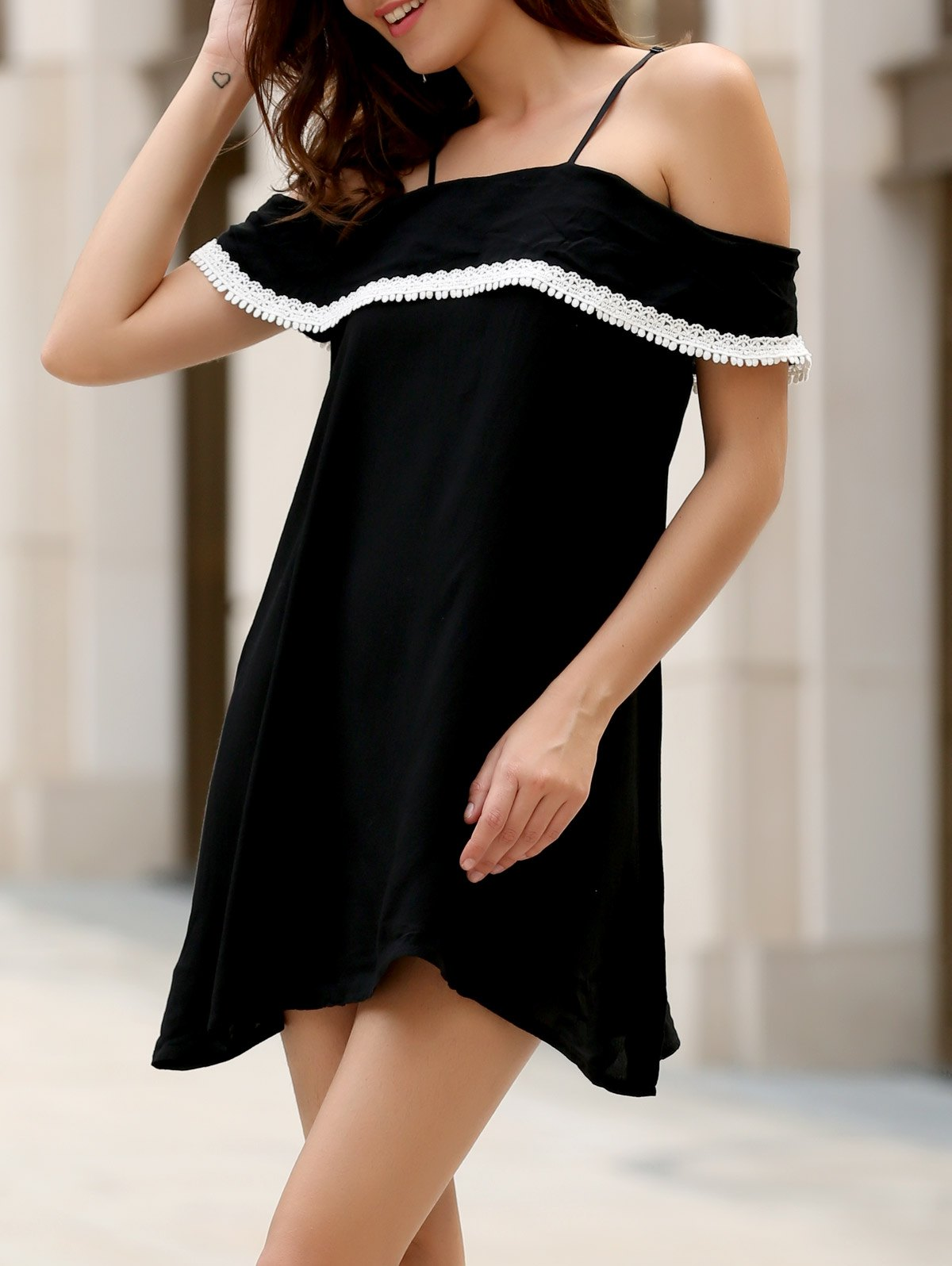 Chic Off The Shoulder Flounce Dress For Women