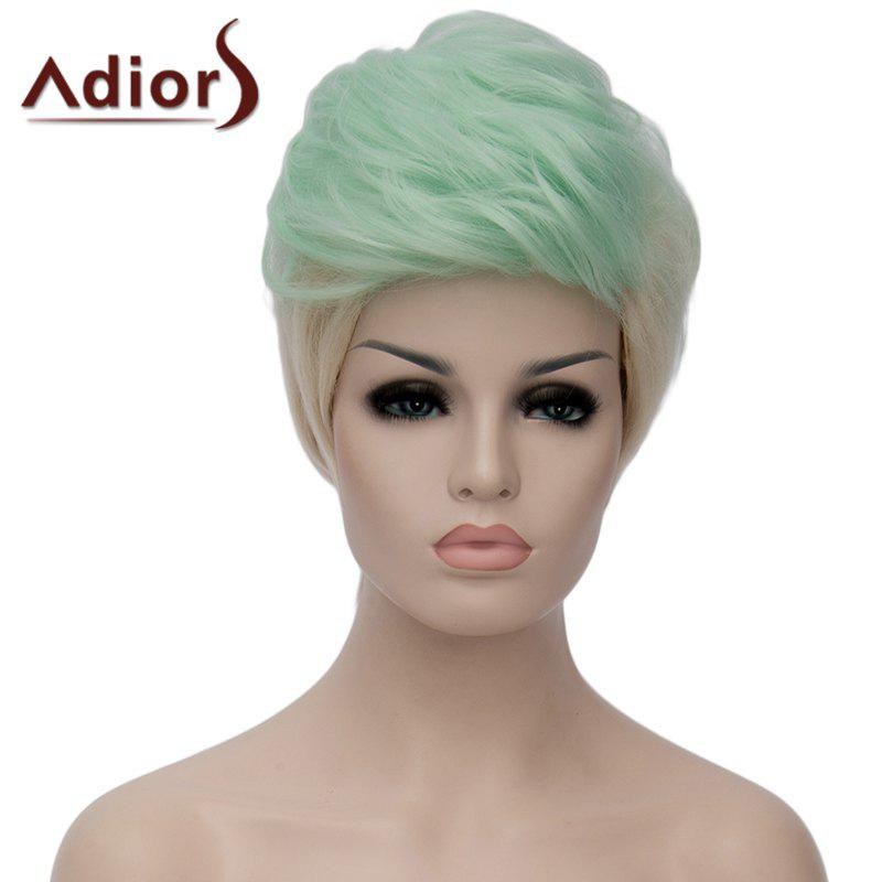 Fluffy Adiors Highlight Heat Resistant Synthetic Short Wig For Women - OMBRE 2