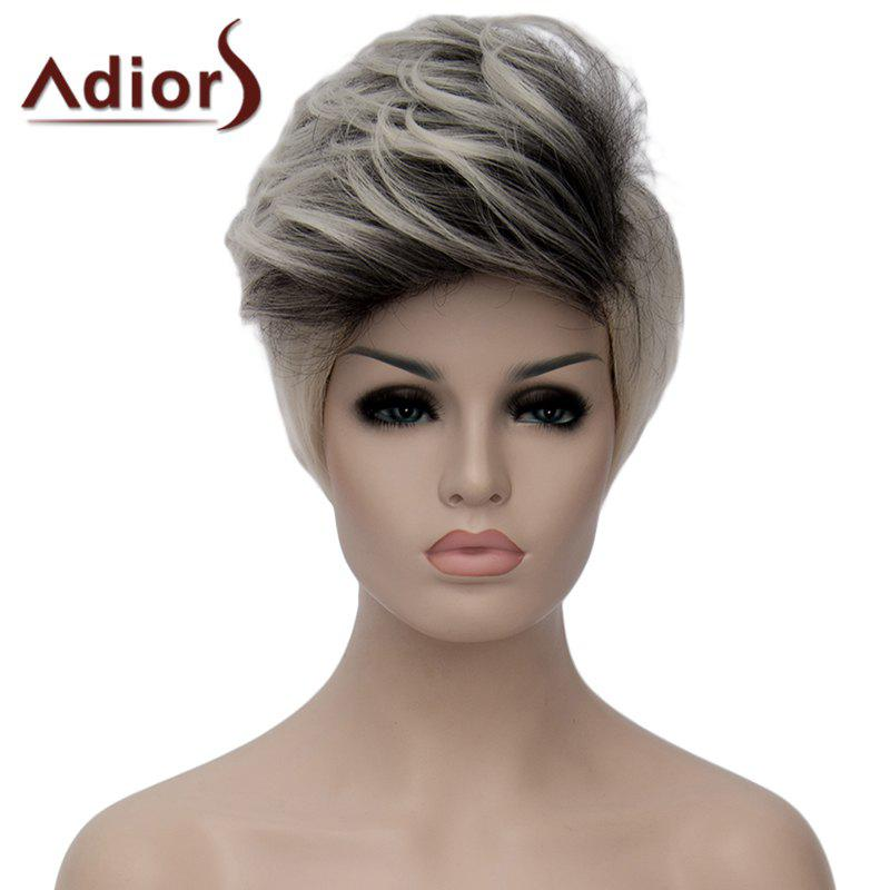 Adiors Short Fluffy Highlight Heat Resistant Synthetic Wig For Women - COLORMIX