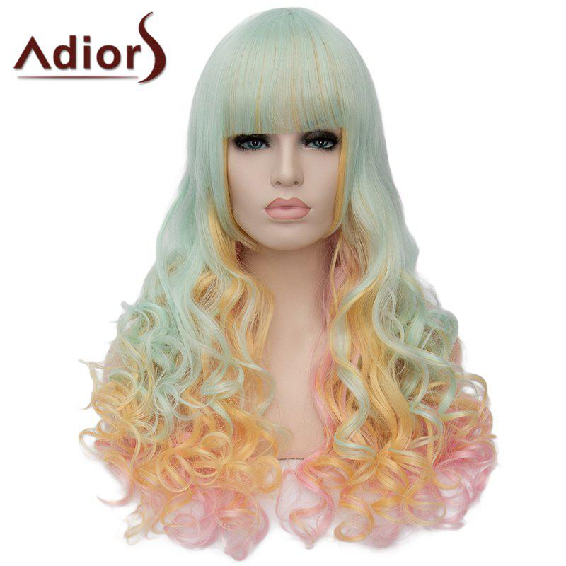 Adiors Fluffy Full Bang Heat Resistant Synthetic Long Wig For Women - OMBRE