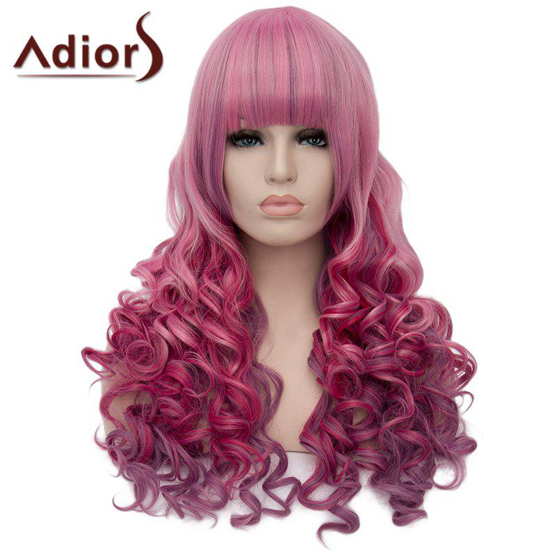 Adiors Fluffy Heat Resistant Synthetic Full Bang Long Wig For Women