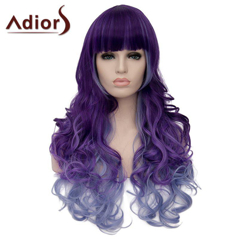 Adiors Heat Resistant Synthetic Full Bang Long Curly Wig For Women
