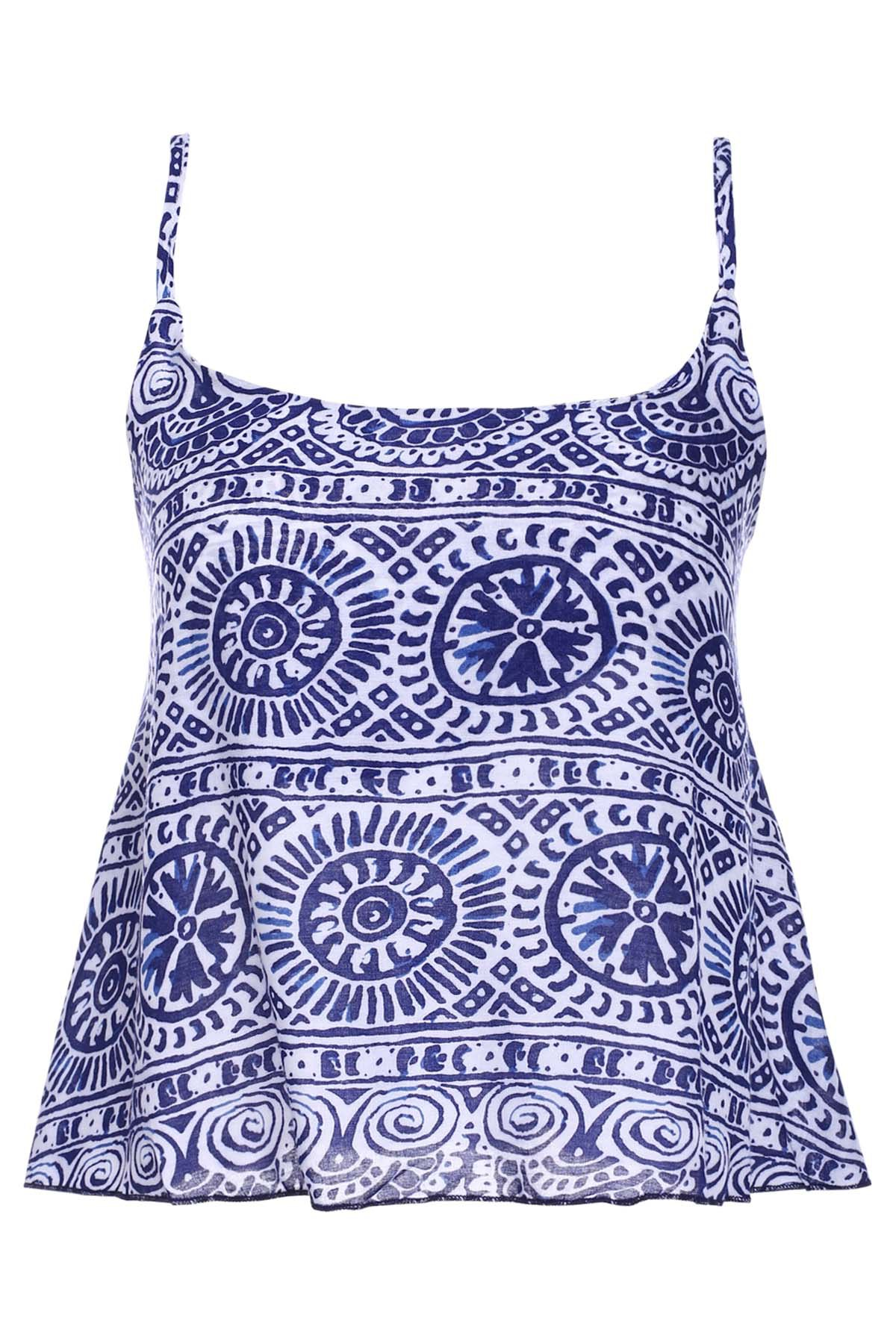 Stylish Tribal Print Spaghetti Strap Women's Tank Top - COLORMIX M