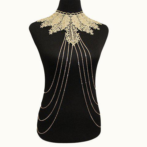 Gorgeous Faux Lace Leaf Body Chain For Women