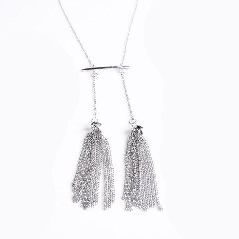 Chic Style Chains Pendant Necklace For Women - SILVER