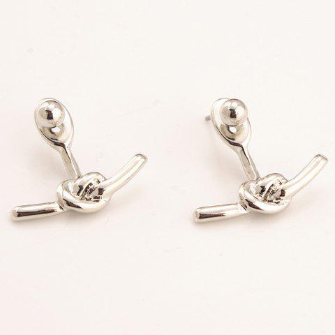 Chic Simple Knot Design Women's Alloy Earrings