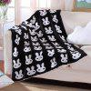 Hot Sale Rabbit Pattern Black White Color Knitted Baby Blanket - WHITE/BLACK W51.18INCH*L62.99INCH