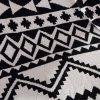 Fashionable Black White Color Jacquard Weave Cotton Knitted Blanket - WHITE/BLACK W35.43INCH*L43.3INCH