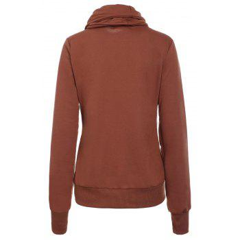 Drawstring Layered Collar Pullover Sweatshirt - L L