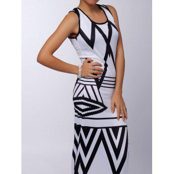 Sexy Sleeveless Scoop Neck Printed Women's Maxi Dress