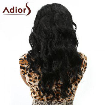 Charming Black Capless Vogue Shaggy Wavy Long Centre Parting Synthetic Wig For Women - BLACK