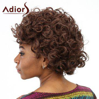 Stunning Fluffy Curly Capless Stylish Short Deep Brown Women's Synthetic Wig - DEEP BROWN