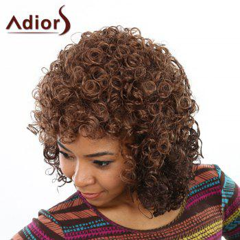 Trendy Deep Brown Stunning Short Capless Shaggy Afro Curly Synthetic Wig For Women - DEEP BROWN