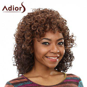 Trendy Deep Brown Stunning Short Capless Shaggy Afro Curly Synthetic Wig For Women