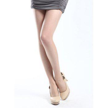 Trendy High-Waisted Stretchy Slimming Pure Color Women's Stockings - COMPLEXION ONE SIZE(FIT SIZE XS TO M)