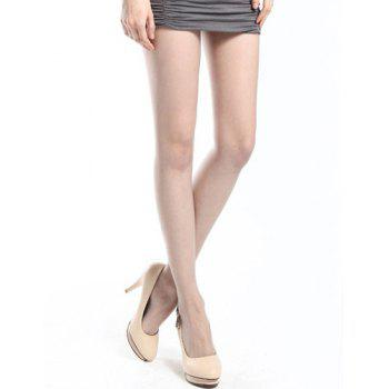 Trendy High-Waisted Stretchy Slimming Pure Color Women's Stockings