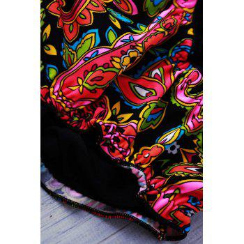 Printed Sexy Strapless Two-Pieces Women's Swimwear - AS THE PICTURE M