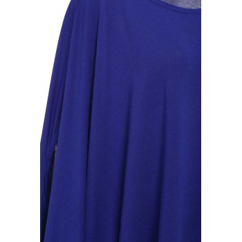 Stylish Scoop Neck Solid Color Women's Asymmetrical Dress - 2XL 2XL