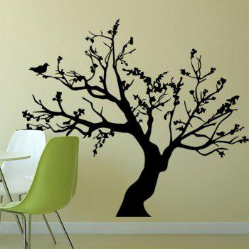 Stylish Big Tree Pattern Background Wall Sticker For Bedroom Livingroom Decoration - BLACK
