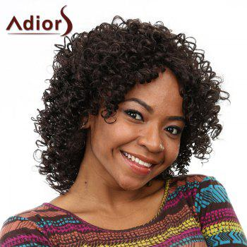 Fashion Shaggy Afro Curly Long Capless Black Women's Heat Resistant Fiber Wig - BLACK