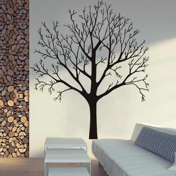 Stylish Tree Branch Pattern Background Wall Sticker For Bedroom Livingroom Decoration - BLACK