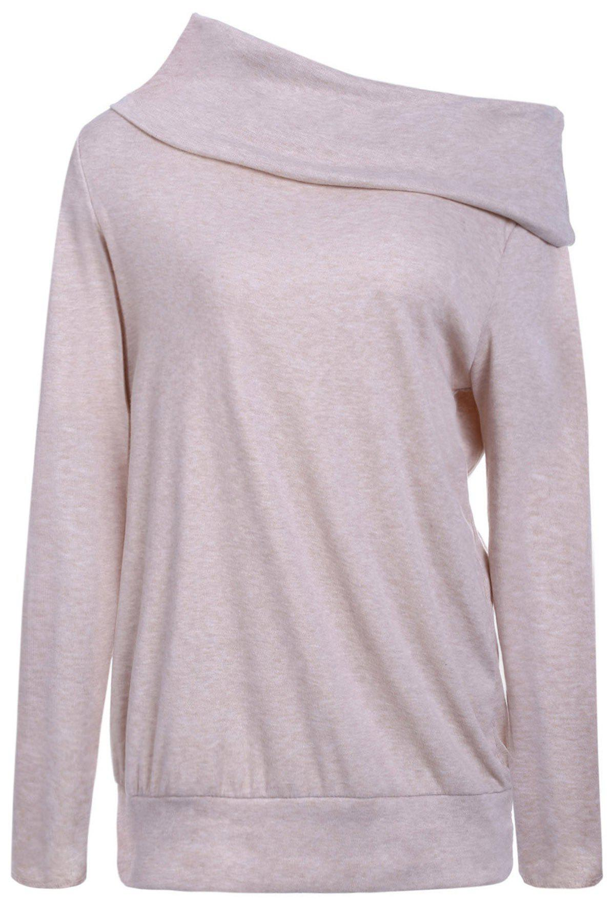 Multiway Off The Shoulder T-Shirt - LIGHT PURPLE M