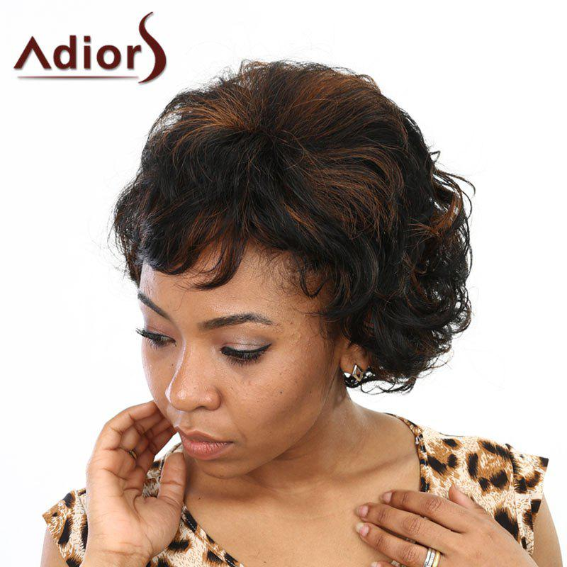 Fashion Synthetic Short Curly Neat Bang Charming Fluffy Women's Capless Wig - /