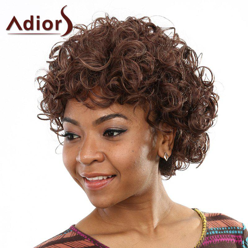 Stunning Fluffy Curly Capless Stylish Short Deep Brown Women's Synthetic Wig