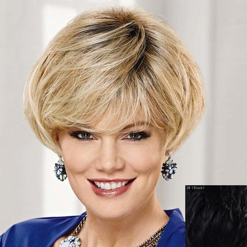 Fashion Short Natural Straight Graceful Side Bang Capless Human Hair Wig For Women цены