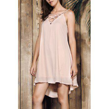 Spaghetti Strap Pink Dress For Women