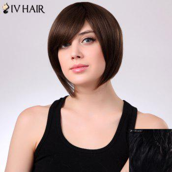 Charming Side Bang Siv Hair Bobo Style Women's Human Hair Wig