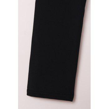 Active Solid Color High-Waisted Skinny Women's Pants - BLACK S