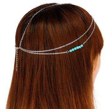 Delicate Bohemian Style Beads Multi-Layered Link Women's Hairband