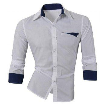Hot Sale Turn Down Collar Single Breasted Shirt For Men