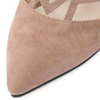 Trendy Hollow Out and Suede Design Women's Pumps - 38 38