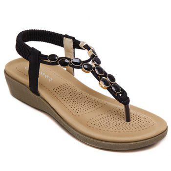Stylish Platform and Elastic Band Design Women's Sandals