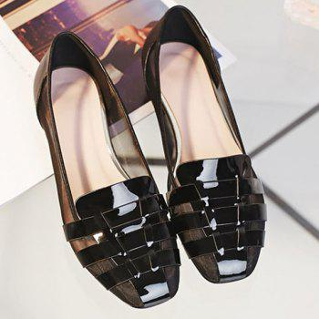 Simple Mesh and Black Color Design Women's Flat Shoes - 36 36