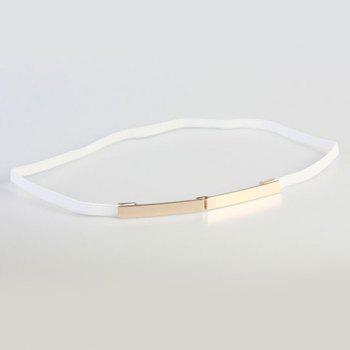Elegant Alloy Hook Buckle Elastic Waist Belt For Women
