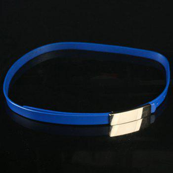 Elegant Alloy Buckle Solid Color Frosted Waist Belt For Women