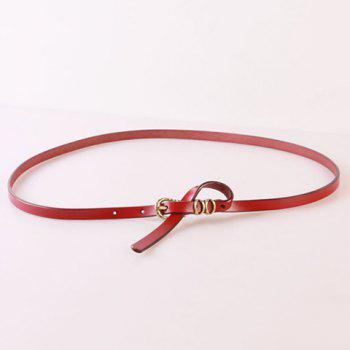 Elegant Pin Buckle Solid Color Waist Belt For Women