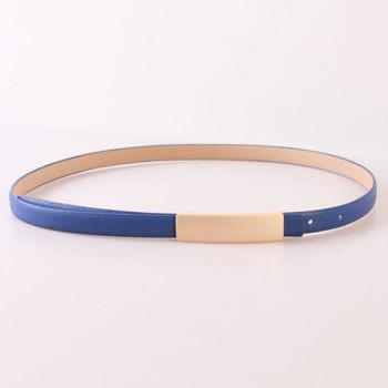 Elegant Rectangle Pin Buckle PU Leather Waist Belt For Women