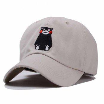 Chic Cartoon Bear Embroidery Women's Baseball Cap