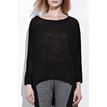 Dolman Sleeve Asymmetrical Pullover Sweater