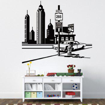 Stylish City Tower Landscape Pattern Wall Sticker For Bedroom Livingroom Decoration