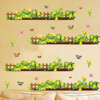 Stylish Plants Fence Pattern Baseboard Wall Sticker For Bedroom Livingroom Decoration - COLORMIX