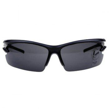 High Quality Outdoor Sports Mountain Biking Plastic Cycling Sunglasses - BLACK BLACK