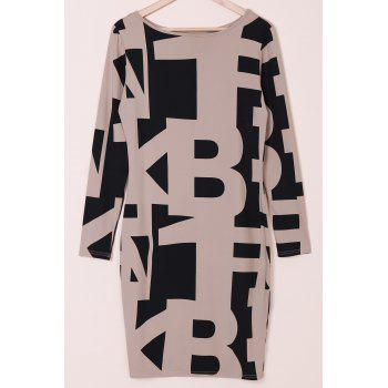 Sexy Long Sleeve Off The Shoulder Geometric Dress For Women